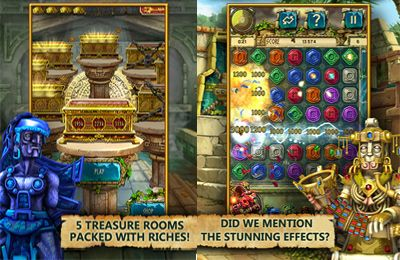 Screenshots vom Spiel The Treasures of Montezuma 3 für iPhone, iPad oder iPod.