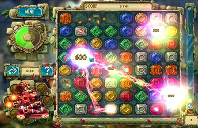 Screenshots vom Spiel The Treasures of Montezuma 3 HD für iPhone, iPad oder iPod.
