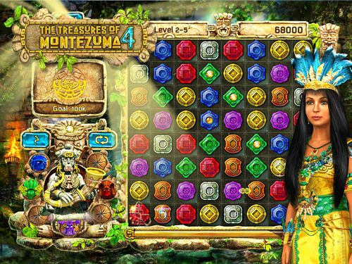 Screenshots of the The treasures of Montezuma 4 game for iPhone, iPad or iPod.