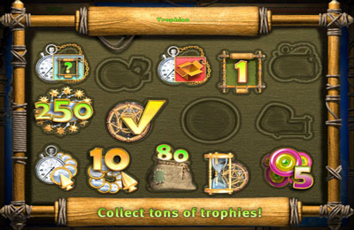 Screenshots vom Spiel The Treasures of Mystery Island für iPhone, iPad oder iPod.