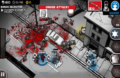 Screenshots vom Spiel The Walking Dead: Assault für iPhone, iPad oder iPod.