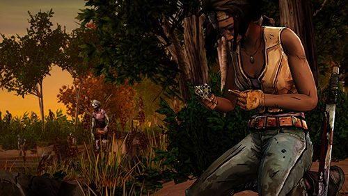 Screenshots vom Spiel The walking dead: Michonne für iPhone, iPad oder iPod.