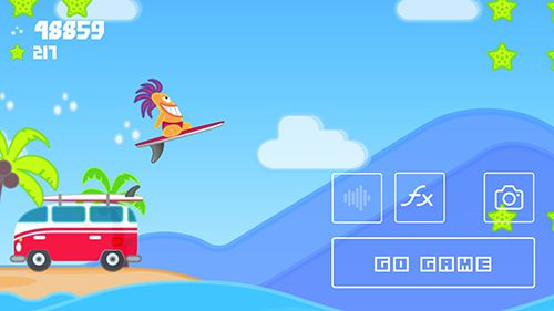 Écrans du jeu The wave surf: Tap adventure pour iPhone, iPad ou iPod.
