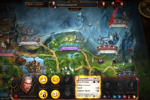 Capturas de pantalla del juego The witcher: Adventure game para iPhone, iPad o iPod.
