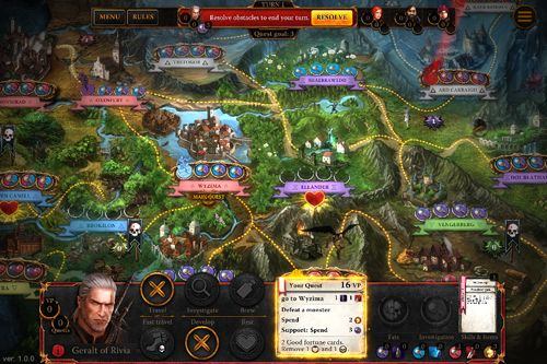 Screenshots of the The witcher: Adventure game game for iPhone, iPad or iPod.