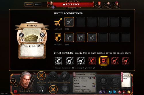 Screenshots vom Spiel The witcher: Adventure game für iPhone, iPad oder iPod.