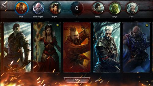 Écrans du jeu The witcher: Battle arena pour iPhone, iPad ou iPod.