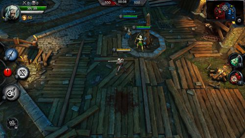 Capturas de pantalla del juego The witcher: Battle arena para iPhone, iPad o iPod.