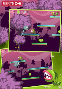 Screenshots do jogo The Zombie Dash para iPhone, iPad ou iPod.