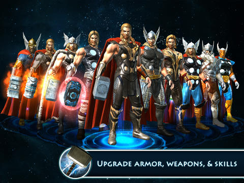 Capturas de pantalla del juego Thor: The Dark World - The Official Game para iPhone, iPad o iPod.