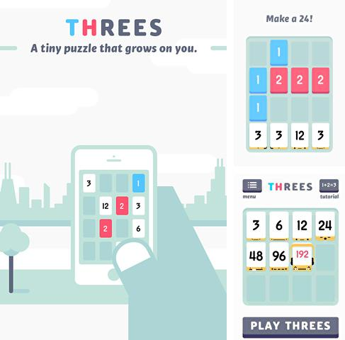 In addition to the game Hero of Magic for iPhone, iPad or iPod, you can also download Threes! for free.