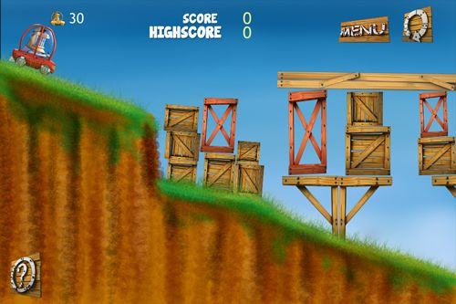 Screenshots of the Through the cliff game for iPhone, iPad or iPod.