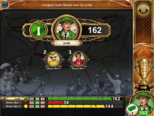 Геймплей Ticket to ride для Айпад.
