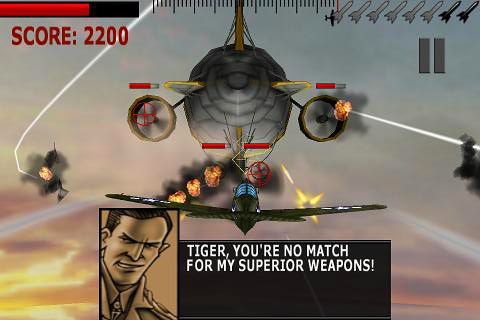 Screenshots of the Tigers of the Pacific game for iPhone, iPad or iPod.
