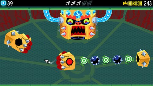 Capturas de pantalla del juego Tilt to live: Gauntlet's revenge para iPhone, iPad o iPod.