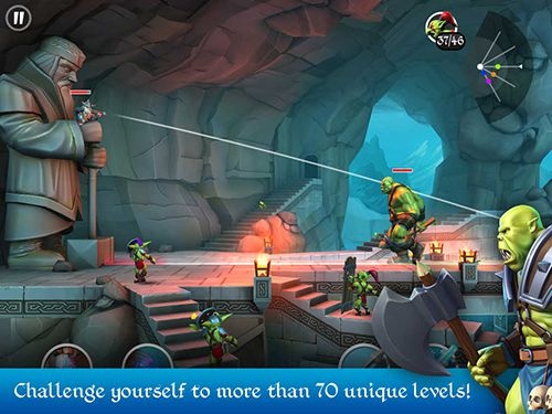 Screenshots do jogo Tiny archers para iPhone, iPad ou iPod.