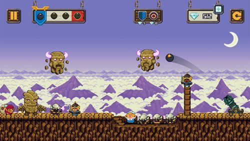 Écrans du jeu Tiny empire pour iPhone, iPad ou iPod.