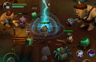 Screenshots vom Spiel Tiny Legends: Monster crasher für iPhone, iPad oder iPod.