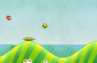 Геймплей Tiny Wings для Айпад.