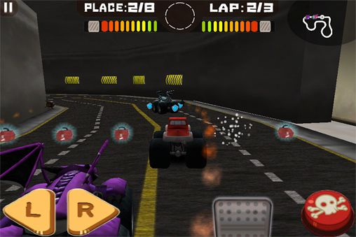Screenshots vom Spiel Tires of fury für iPhone, iPad oder iPod.