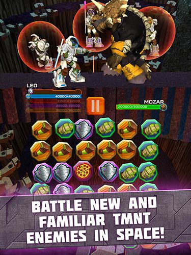 Kostenloses iPhone-Game TMNT Battle Match: Ninja Turtles herunterladen.