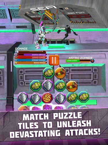 Descarga gratuita de TMNT battle match: Ninja Turtles para iPhone, iPad y iPod.