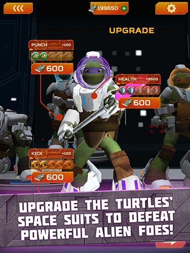Écrans du jeu TMNT battle match: Ninja Turtles pour iPhone, iPad ou iPod.