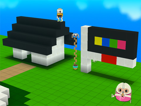Screenshots of the Toca: Builders game for iPhone, iPad or iPod.
