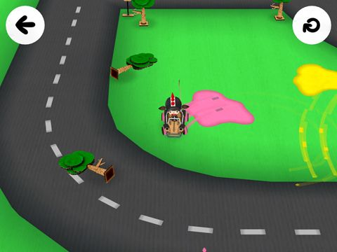 Screenshots of the Toca cars game for iPhone, iPad or iPod.