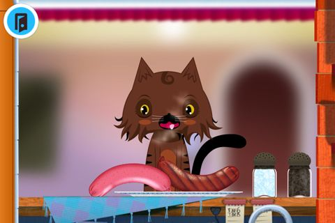 Screenshots of the Toca: Kitchen game for iPhone, iPad or iPod.