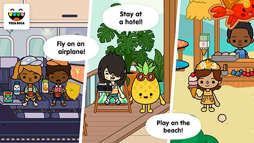 Capturas de pantalla del juego Toca life: Vacation para iPhone, iPad o iPod.