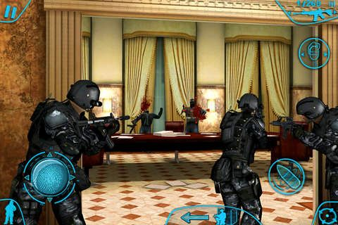 iPhone、iPad または iPod 用Tom Clancy's Rainbow six: Shadow vanguardゲームのスクリーンショット。