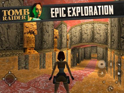 Screenshots of the Tomb Raider game for iPhone, iPad or iPod.