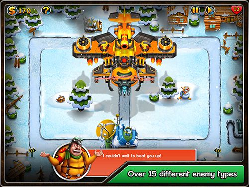 Screenshots of the Toon tactics TD: Ambush game for iPhone, iPad or iPod.