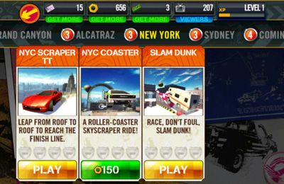 Écrans du jeu Top Gear: Stunt School Revolution pour iPhone, iPad ou iPod.
