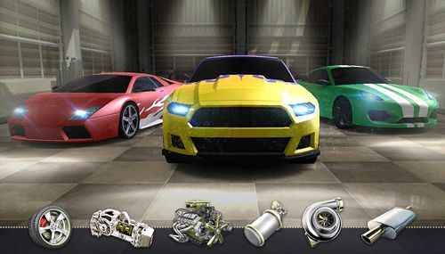 Screenshots vom Spiel Top speed: Drag and fast racing für iPhone, iPad oder iPod.