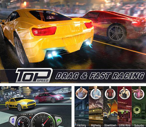 En plus du jeu Compétition spatiale pour iPhone, iPad ou iPod, vous pouvez aussi télécharger gratuitement Vitesse maximale: Drag racing, Top speed: Drag and fast racing.