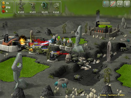 Screenshots vom Spiel Total defense 3D für iPhone, iPad oder iPod.