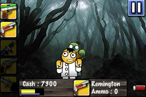 Screenshots of the Touch zombie game for iPhone, iPad or iPod.