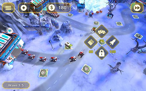 Screenshots vom Spiel Tower defense generals für iPhone, iPad oder iPod.
