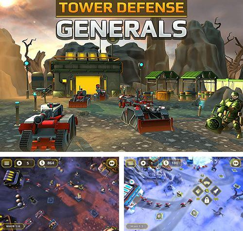 除了 iPhone、iPad 或 iPod 游戏,您还可以免费下载Tower defense generals, 。
