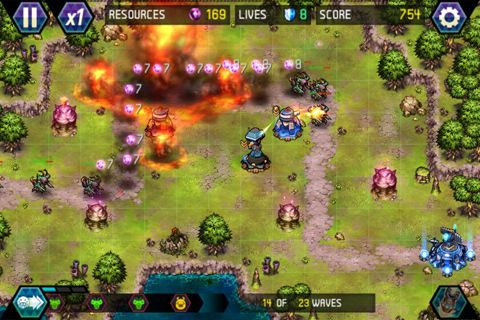 Capturas de pantalla del juego Tower defense: Lost Earth para iPhone, iPad o iPod.