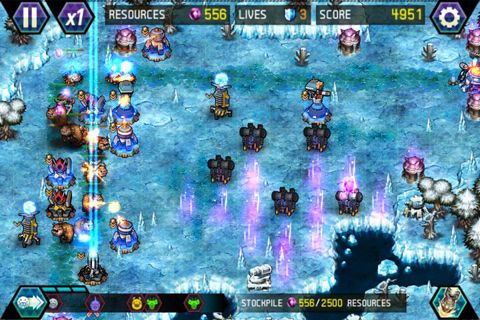Écrans du jeu Tower defense: Lost Earth pour iPhone, iPad ou iPod.