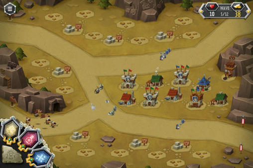 Screenshots vom Spiel Tower dwellers: Gold für iPhone, iPad oder iPod.