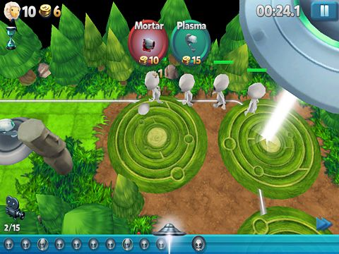 Capturas de pantalla del juego Tower madness 2: 3D TD para iPhone, iPad o iPod.