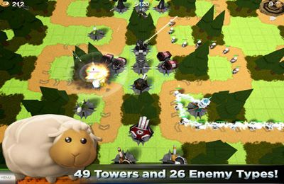 Screenshots of the TowerMadness game for iPhone, iPad or iPod.