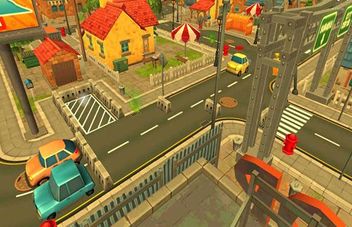 Capturas de pantalla del juego Town car parking para iPhone, iPad o iPod.