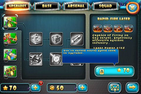 Screenshots vom Spiel Toy defense 4: Sci-Fi für iPhone, iPad oder iPod.