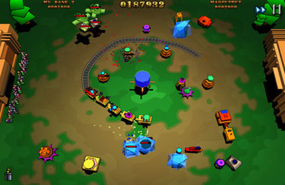 Écrans du jeu Train Defense pour iPhone, iPad ou iPod.