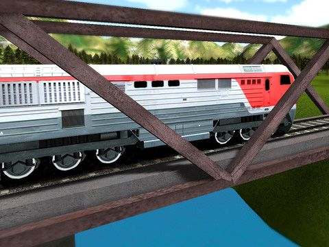 Écrans du jeu Train ride 3D pour iPhone, iPad ou iPod.